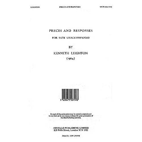 Novello Preces and Responses SATB a cappella Composed by Kenneth Leighton