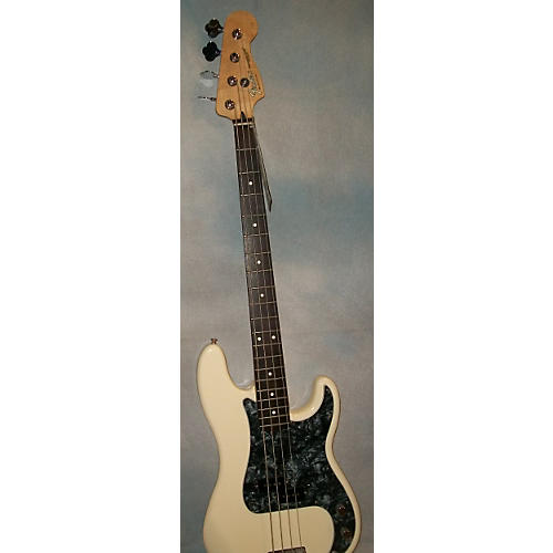 Fender Precision MIM Olympic White Electric Bass Guitar-thumbnail