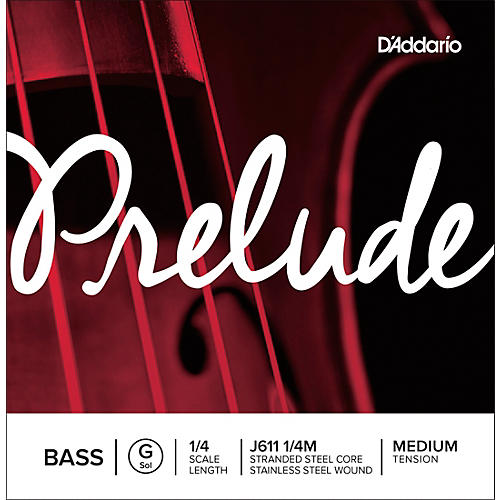 D'Addario Prelude Series Double Bass G String 1/4 Size