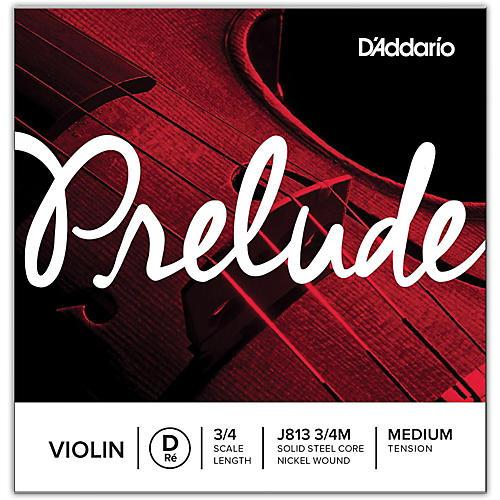 D'Addario Prelude Violin D String  3/4 Size