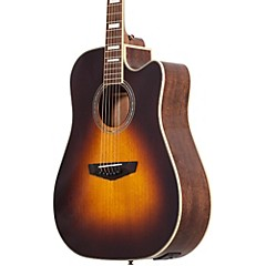 Premier Delancey Cutaway Dreadnought Acoustic-Electric Guitar Vintage Sunburst