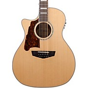 D'Angelico Premier Fulton Left Handed 12-String Acoustic-Electric Guitar