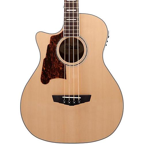 D'Angelico Premier Mott Left Handed Acoustic-Electric Bass Guitar