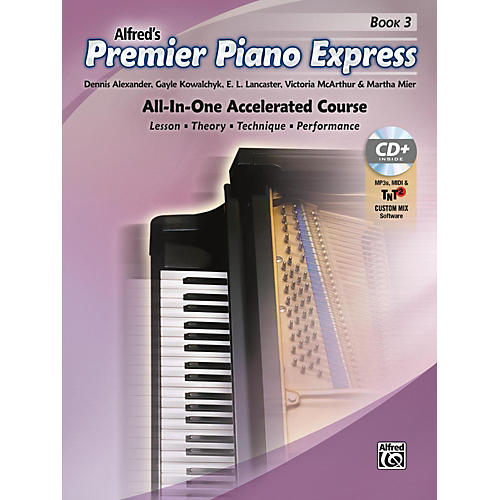 Alfred Premier Piano Express, Book 3 Book, CD-ROM & Online Audio & Software Level 3-4-thumbnail