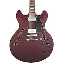 Premier Series DC with Stop Tail Piece Hollowbody Electric Guitar Transparent Wine