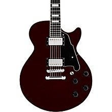 Premier Series SS Semi-Hollowbody Electric Guitar with No F-Holes and Stopbar Tailpiece Transparent Wine