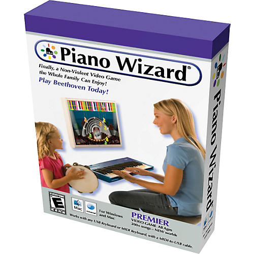 Piano Wizard Premiere Piano Wizard Video Game with USB/MIDI Cable-thumbnail