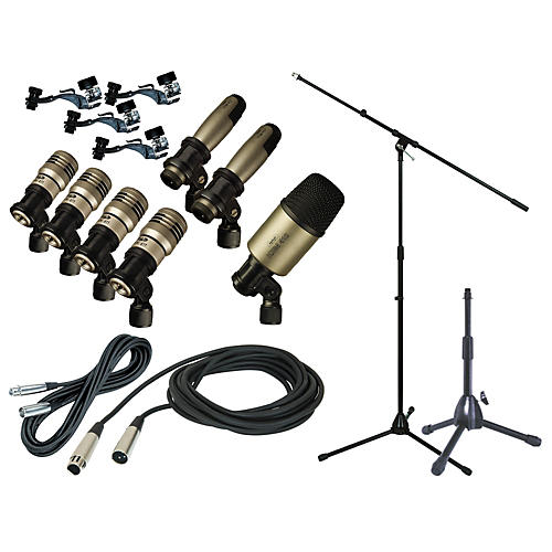 CAD Premium 7-Piece Drum Mic Kit with Stand and Cables-thumbnail