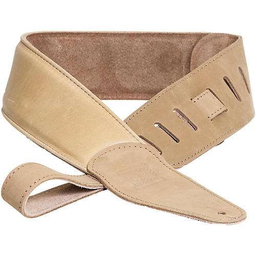 DR Strings Premium Glove Leather Guitar Strap with Suede Interior Tan