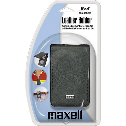 Maxell Premium Leather Case for Video iPod (5th Generation)-thumbnail