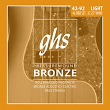 GHS Pressure Wound Bronze Acoustic Bass Strings