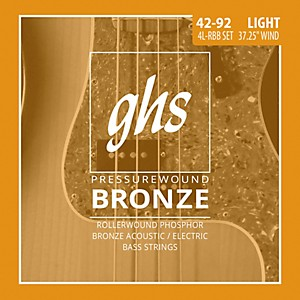 GHS Pressure Wound Bronze Acoustic Bass Strings by GHS