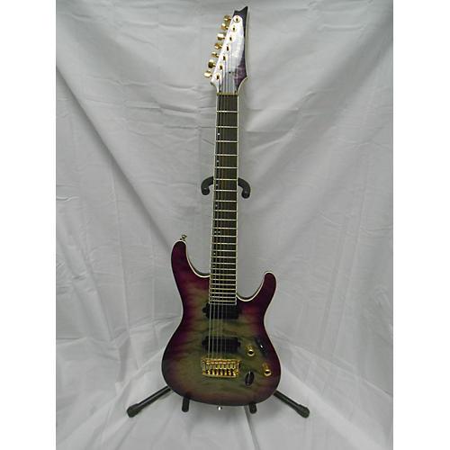 used ibanez prestige s5527qfx solid body electric guitar purple doom burst guitar center. Black Bedroom Furniture Sets. Home Design Ideas