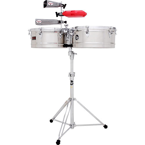 LP Prestige Series Stainless Steel Timbales 13 and 14 in.