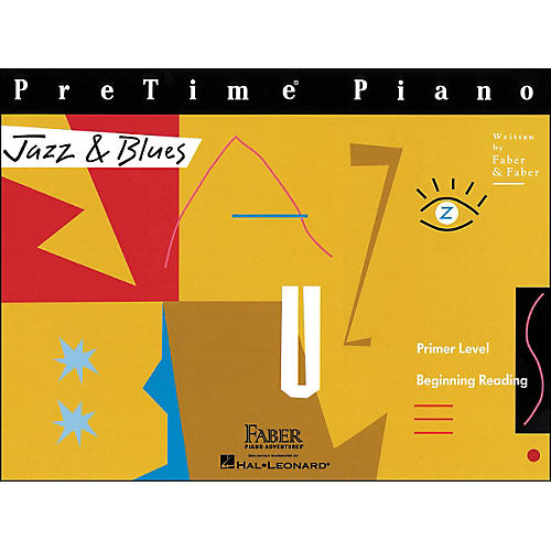 Faber Piano Adventures Pretime Piano Jazz & Blues Book Primer Level Beginning Reading - Faber Piano-thumbnail