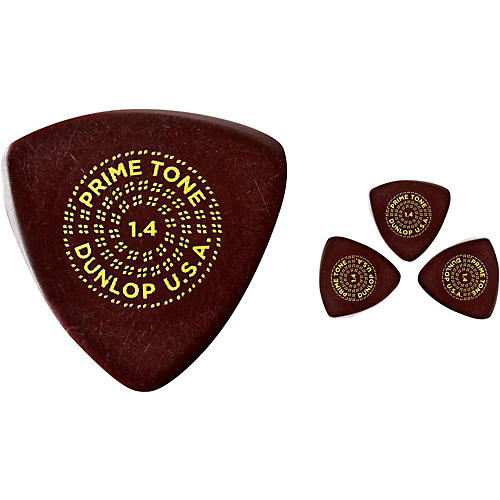 Dunlop Primetone Small Sculpted Triangle Plectra with Grip, 1.4 (3-Pack)-thumbnail
