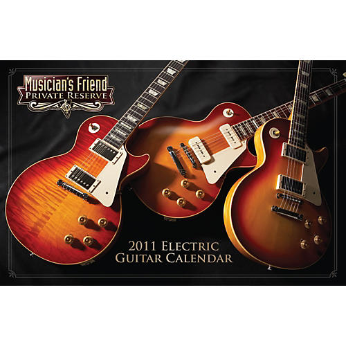 Musician's Friend Private Reserve 2011 Deluxe Wall Calendar-thumbnail