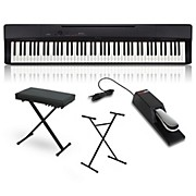 Casio Privia PX-160BK Digital Piano with Stand, Sustain Pedal, and Deluxe Keyboard Bench