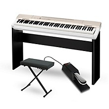 Casio Privia PX-160GD Digital Piano with CS-67 Stand Sustain Pedal and Deluxe Keyboard Bench