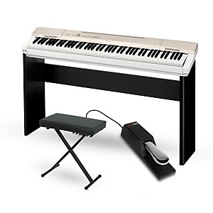 Casio Privia PX-160GD Digital Piano with CS-67 Stand Sustain Pedal and Delu... by Casio