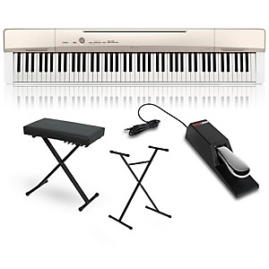 Casio Privia PX-160GD Digital Piano with Stand Sustain Pedal and Deluxe Key... by Casio