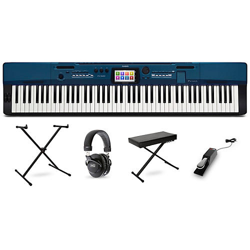 Casio Privia PX-560 Digital Piano with Stand Sustain Pedal Deluxe Keyboard Bench and Headphones