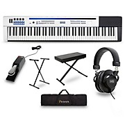 Casio Privia PX-5S Pro Stage Piano with Stand Sustain Pedal Deluxe Keyboard Bench Headphones and Gig Bag