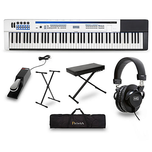 Casio Privia PX-5S Pro Stage Piano with Stand, Sustain Pedal, Deluxe Keyboard Bench, Headphones and Gig Bag-thumbnail