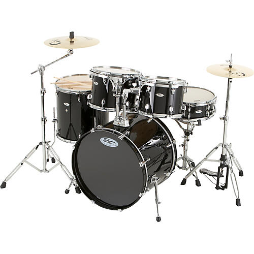 Sound Percussion Labs Pro 5-Piece Shell Pack with Chrome Hardware Black