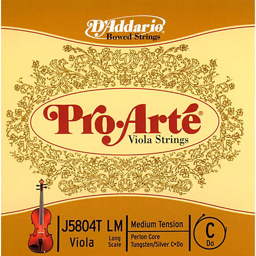 D'Addario Pro-Art Series Viola C String 16+ Long Scale Tungsten