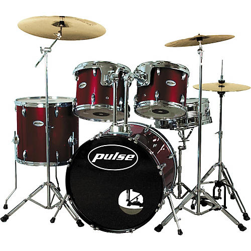 Pulse Pro Drum Set, Wine Red