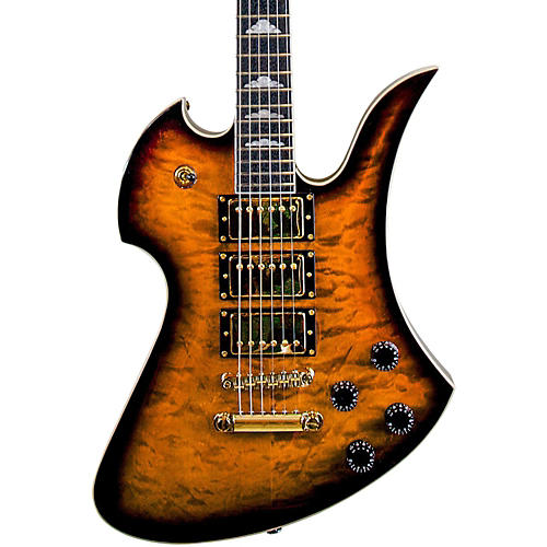 B.C. Rich Pro X Custom Special X3 Mockingbird Electric Guitar Tobacco Burst with Gold Hardware