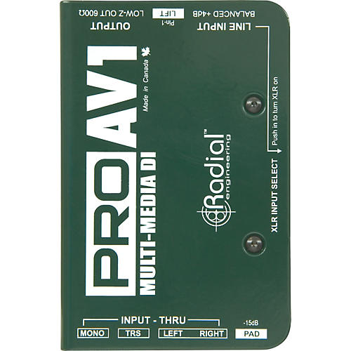 Radial Engineering ProAV1 Single-Channel Direct Box-thumbnail