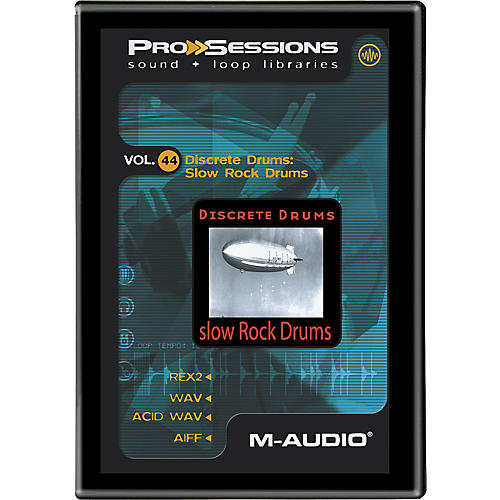 M-Audio ProSessions Vol. 44 Discrete Drums: Slow Rock Drums
