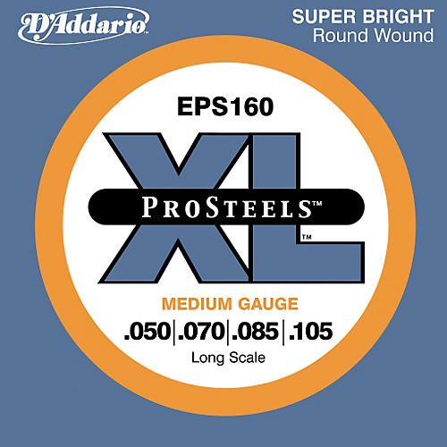 D'Addario ProSteels EPS160 Medium Gauge Long Scale Bass Strings-thumbnail