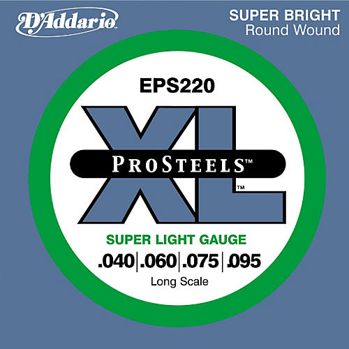 Addario ProSteels EPS220 Super Light Gauge Long Scale Bass Strings ...