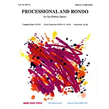 Band Music Press Processional and Rondo Concert Band Level 2-2 1/2 Composed by Gay Holmes Spears