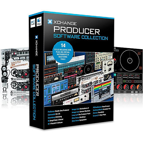 XCHANGE Producer Collection with Presonus, Cakewalk, IK Multimedia, Image Line, Loop Loft, Ohm Force, and Sonnox-thumbnail