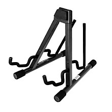 On-Stage Stands Professional Double A-Frame Guitar Stand Level 1 Black
