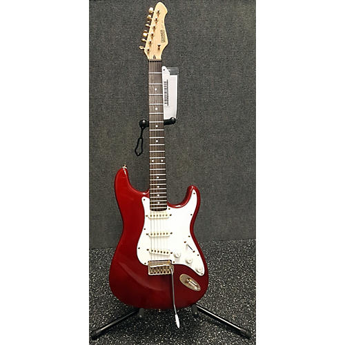 Hohner Professional ST-59 Stratocaster Solid Body Electric Guitar Trans Crimson Red