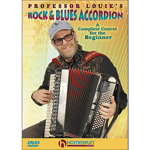 Homespun Professor Louie's Rock And Blues Accordion:  A Complete Course for The Beginner DVD-thumbnail