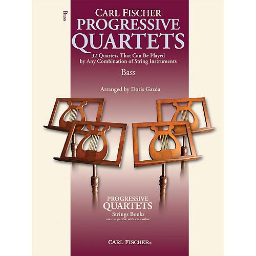 Carl Fischer Progressive Quartets for Strings- Bass (Book)-thumbnail