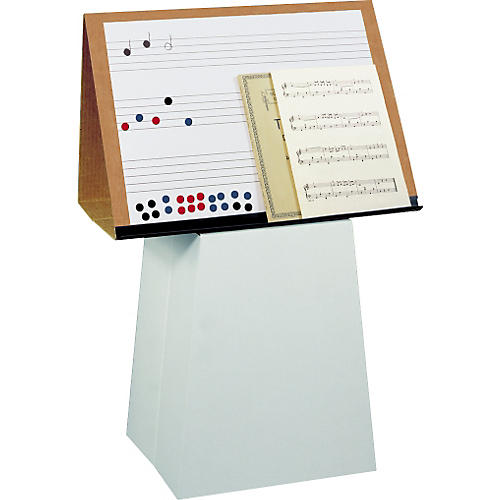 Prop-It Prop-It Magnetic Dry Erase Music Staff Easel with Pedestal-thumbnail