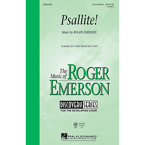 Hal Leonard Psallite! (Discovery Level 2) 3-Part Mixed composed by Roger Emerson
