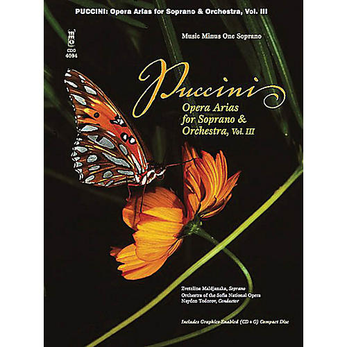 Music Minus One Puccini Arias for Soprano with Orchestra - Volume III Music Minus One Series  by Giacomo Puccini