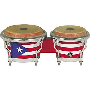 LP Puerto Rican Flag Mini-Bongos by LP