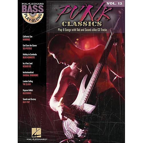 Hal Leonard Punk Classics - Bass Play-Along Volume 12 Book/CD