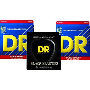 DR Strings Pure Beauties Pure Blues Electric Guitar Strings 3 Pack