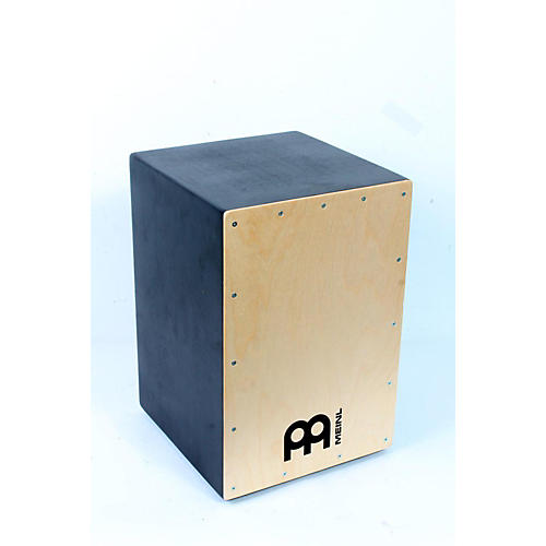 Meinl Pure Black Hardwood Cajon with Natural Frontplate-thumbnail