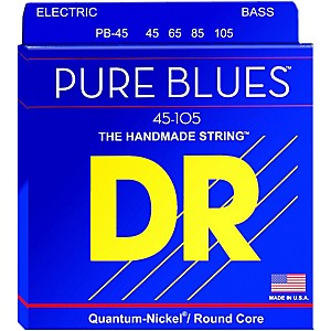 DR Strings Pure Blues Medium 4 String Bass Strings 45-105 by DR Strings